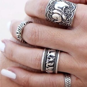 Jewelry - Divine Bohemian Midi Rings Set